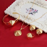 Ethiopian Jewelry Sets 24K Gold Plated Jewelry Set For Ethiopian Eritrean African Girls