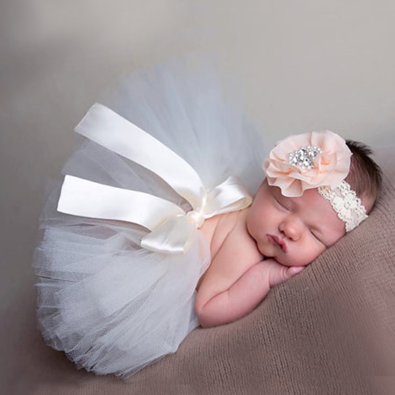 New soft newborn baby girl clothes skirt set newborn baby photography props baby tutu baby cap hat clothing for boys girls in clothing sets from mother