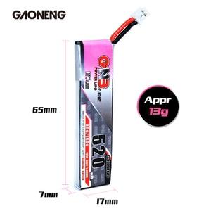 Image 5 - 5PCS Gaoneng GNB FPV סוללות 520mAh 3.8V 80C 1S HV 4.35V PH2.0 Plug Lipo סוללה עבור Emax Tinyhawk Kingkong LDARC זעיר