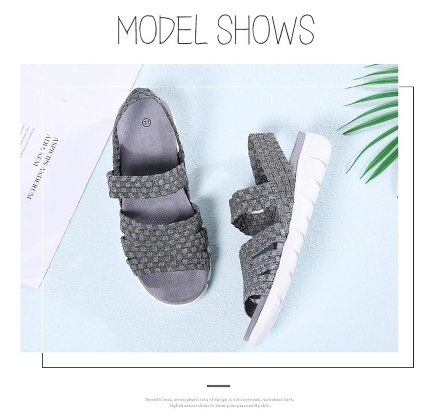 HTB1V1hFbLImBKNjSZFlq6A43FXa9 STQ 2019 women flat sandals shoes women woven wedge sandals ladies beach summer slingback sandals flipflops jelly shoes 803