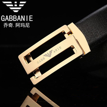 Famous Brand Belt Men Top Quality Genuine Luxury Leather Belts for Men, S Eagle Logo Strap Male Metal Automatic Buckle