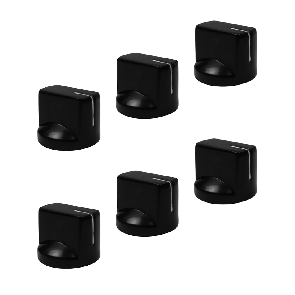 buy new 6pcs guitar bass amplifier amp effect pedal knobs buttons plastic flush. Black Bedroom Furniture Sets. Home Design Ideas