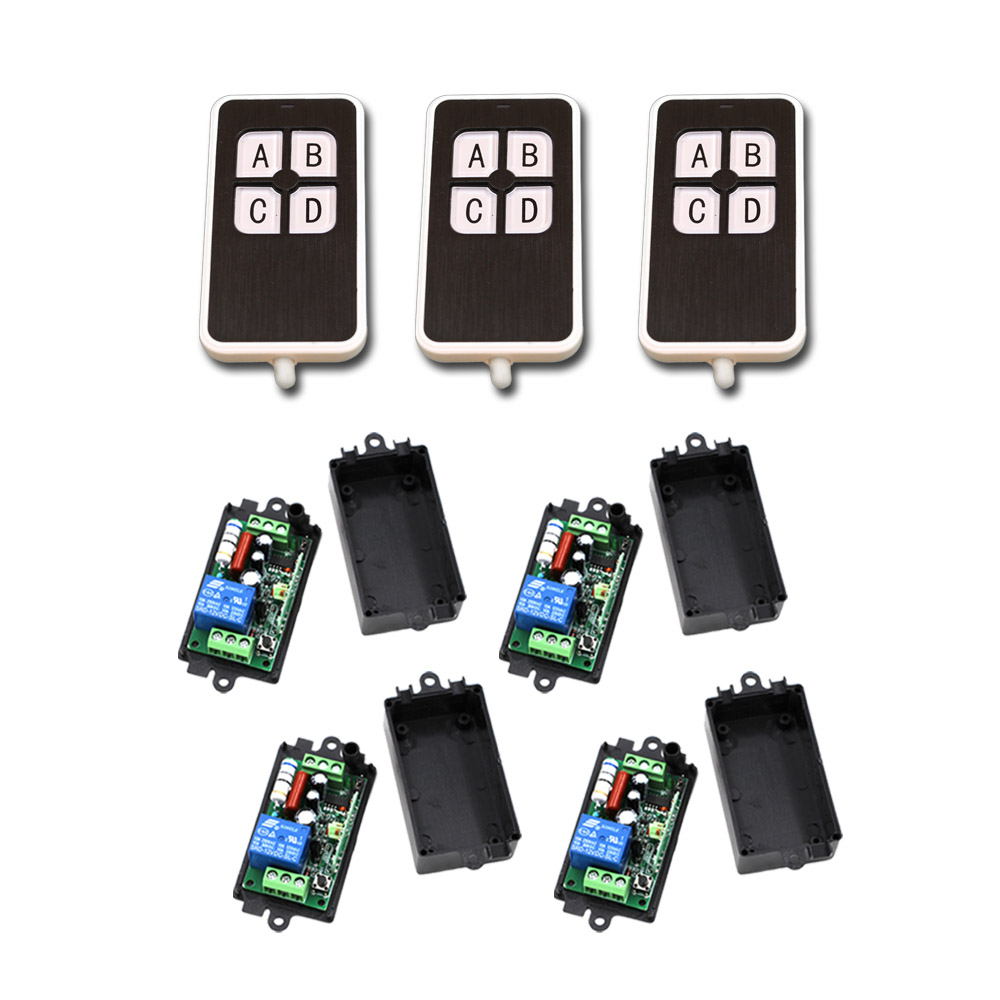 цена на Best Quality Wireless Remote Control Switch AC 110V 220V 1CH Relay Receiver Module and RF Remote Controls 315/433mhz