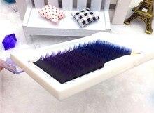 HBZGTLAD 0.1mm 8 13mm yanlış lashes Degrade mavi + mor karışık bir tepsi kirpik bireysel renkli kirpik kirpik uzantıları