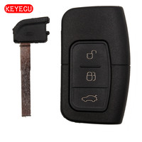 Keyecu Smart Remote Car Key Shell Case Fob Covers 3 Button For Focus Mondeo Galaxy S