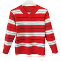 Hot 2016 Autumn Baby Boy Child Stripe Sweater Knitting V-neck sweater Boys Hedging Fashion Sweater Kids Casual Sweater For Girl