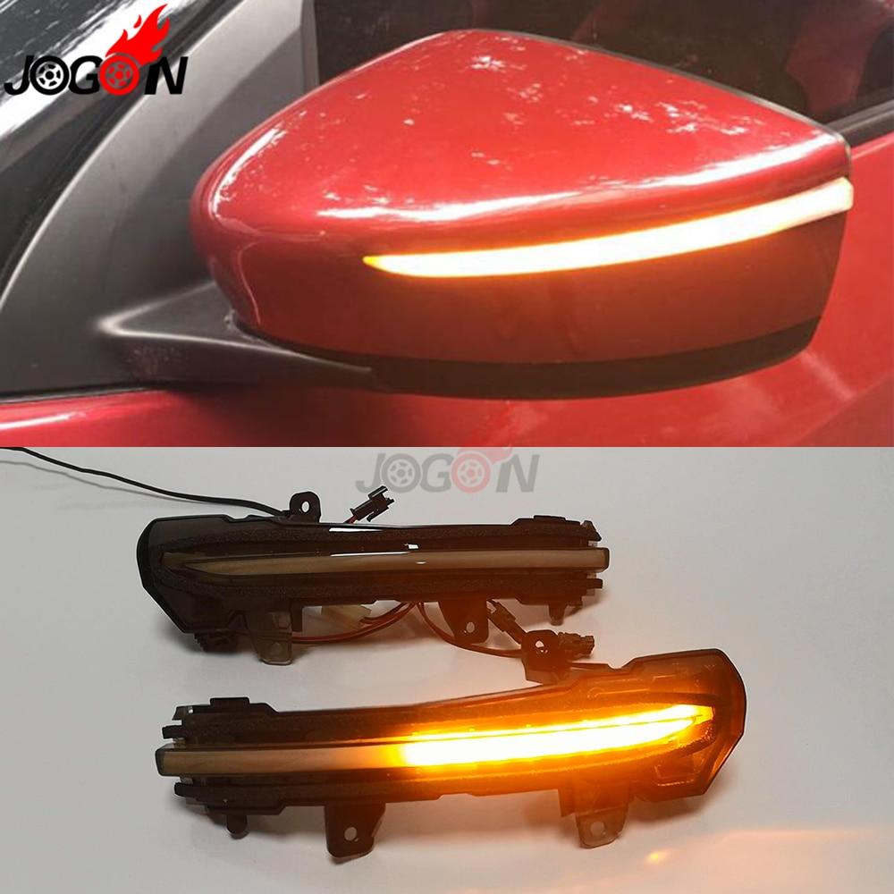 Pair Mirror Turn Signal Indicator Lights L+R Smoke