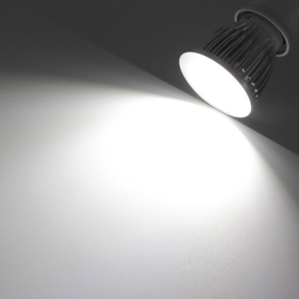 Супер яркий GU10 светодиодный 9 Вт 12 Вт 15 Вт COB прожектор лампа AC85-265V с регулируемой яркостью светодиодный светильник Домашнее освещение Bombillas Whtie/теплый белый