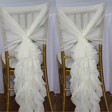 curly willow ruffled wedding chiffon chair sash chair hood decoration 100 pcs/lot FREE SHIPPING 5 pcs lot free shipping 100