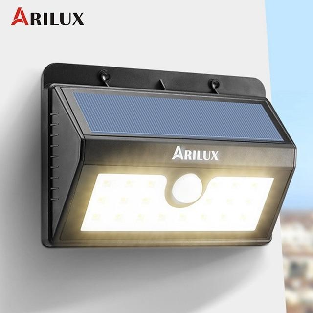 arilux al sl05 20 led solar light outdoor lighting solar powered
