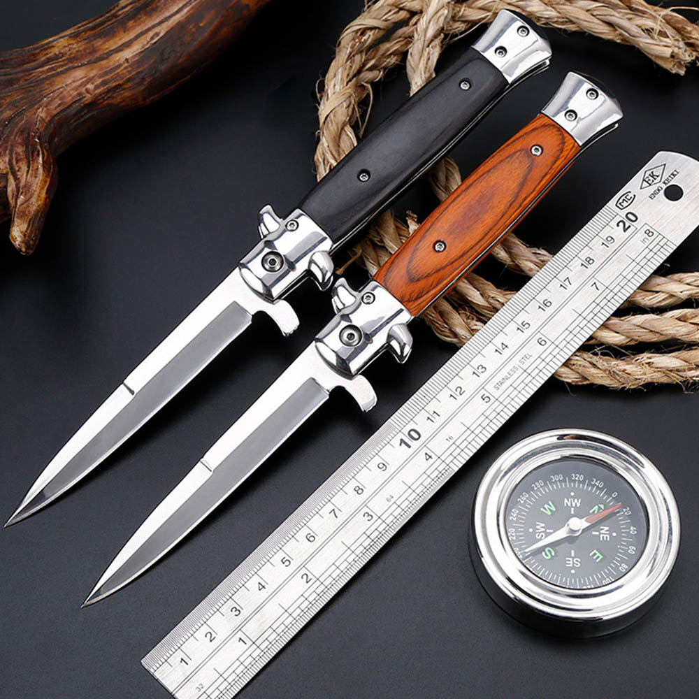 Super PDR Folding Blade Knife Outdoor Survival Hunting Knife Camping Blade Pocket Knives Folding Stainless Handle Wood Couteau new robust multifunction folding blade outdoor survival camping hunting knife 7cr17mov 59 hrc blade abs handle pocket knives