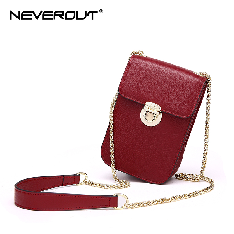 NEVEROUT Soft Genuine Leather Phone/Mini Fashion Bags Solid Shoulder Sac a Main Small Flap Bag Crossbody Purse Messenger Bag neverout new crossbody handbag women messenger bag cover small flap bags fashion shoulder bags simply style genuine leather bag