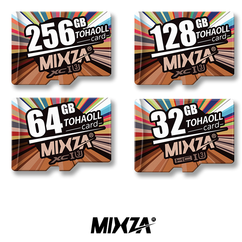 MIXZA U3 Micro SD Card 256GB 128GB 64GB 32GB UHS-I Flash 4K Video Memory Cards U3 TF Card faster than Class10 for phone PC