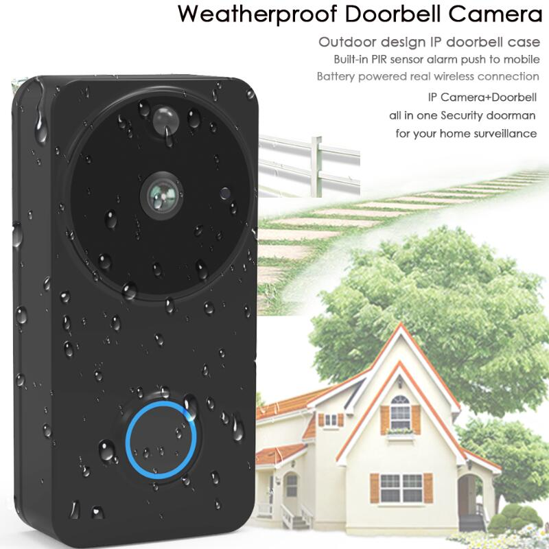 Video Doorbell Door Intercom Waterproof Door Phone Wifi Battery Wireless Doorphone For Apartment Outdoor Doorbell Camera my apartment