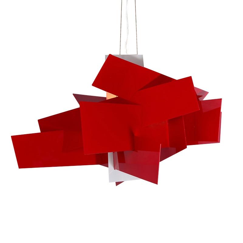 Us 131 44 30 Off Red White Dia65 92cm Clic Explosion Paper Folding Art Acrylic Pendant Lamp Light Modern Home Lighting E27 R7s Pll 47 In