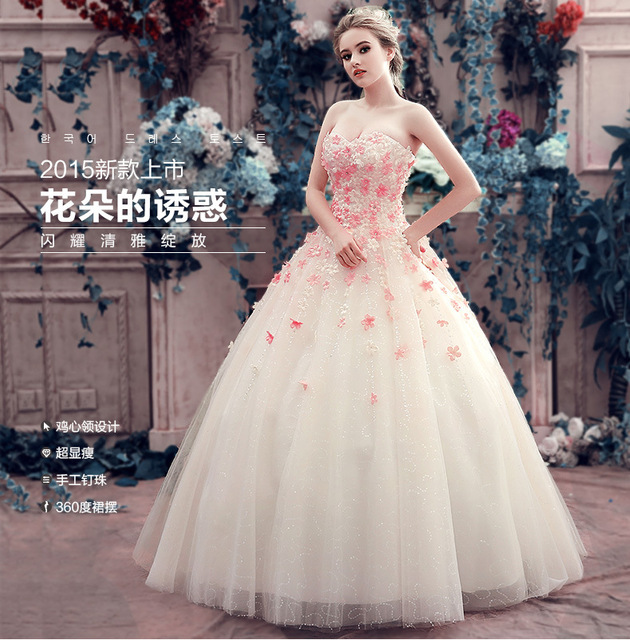 Manual de código de Color Qi novia de la flor vestido de novia ...