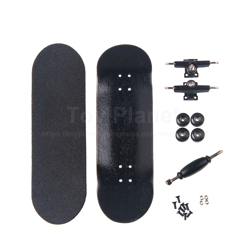 Canadian Maple Black Fingerboards Professional Wooden Finger Skate Boards Nickel Bearing Finger Skateboard Birthday Gift