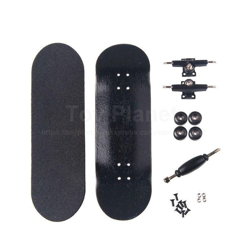 Canadian Maple Black Fingerboards Professional Wooden Finger Skate Boards Nickel Bearing Finger Skateboard Birthday Gift