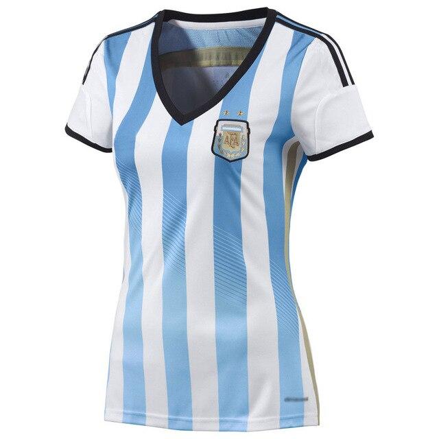 7fe6f8797 Women s World Cup 2014 Argentina soccer jersey shirt dress factory direct  national team home jersey