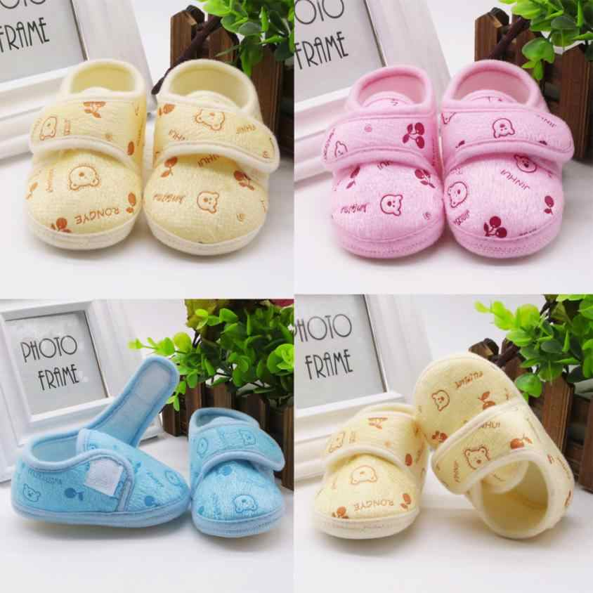 TELOTUNY First Walker Baby Shores Newborn Toddler Shores  Newborn Baby Boy Girl Cut Solid Soft Sole Prewalker Warm Shoes