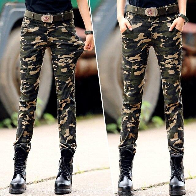 4f3b8991b1dd7 Women Casual Pants Summer Plus Size Jogger Pants Military Camouflage Women  Pants Slim Fit Female Cotton elasticity Capris