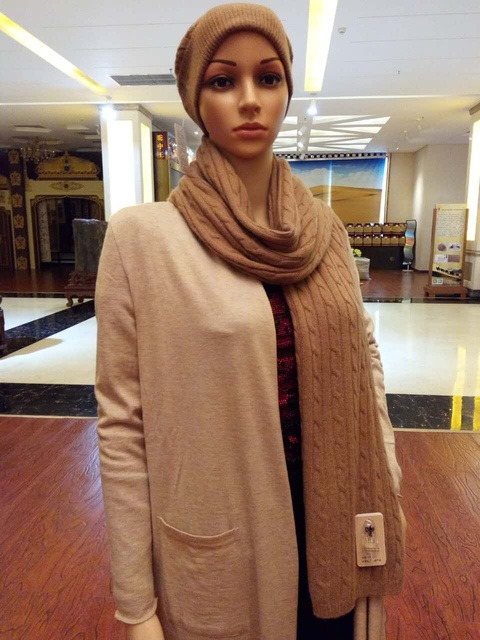 7cc505b3d fashion solid Camel hair knitted women scarf, warm soft camel wool women  knitting head scarf , fashionable scarf