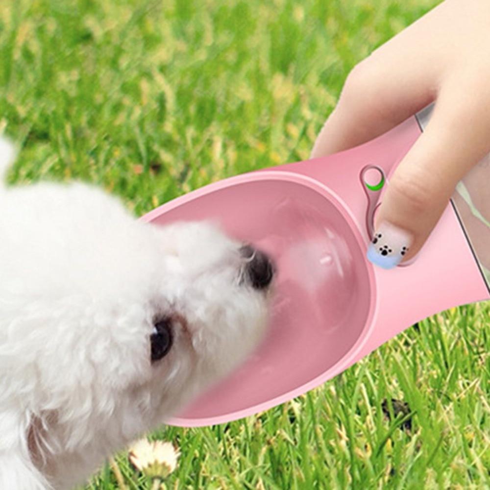 350ml Portable Pet Dog Water Bottle Travel Dog Bowl Cups: Hoopet 350ML Portable Pet Dog Water Bottle Travel Dog Bowl