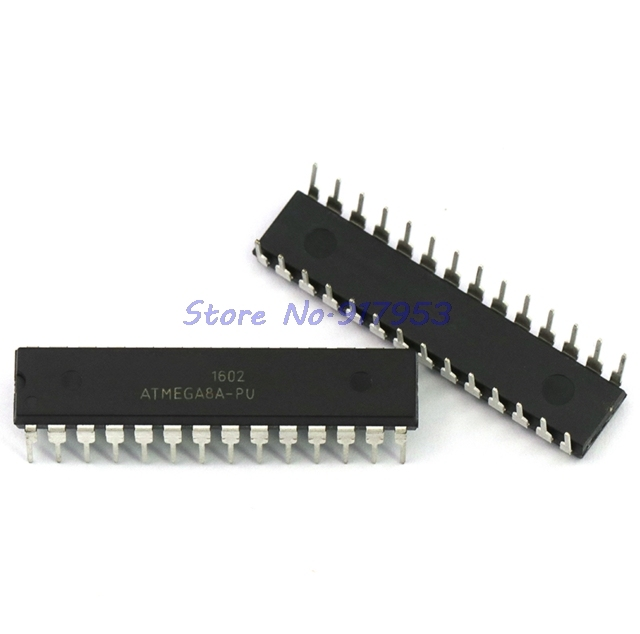 1pcs/lot ATMEGA8A-PU ATMEGA8L-PU ATMEGA8L ATMEGA8A ATMEGA8 DIP-28 8-bit with 8K Bytes In-System Programmable Flash In Stock