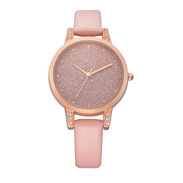 Fashion REBIRTH Women exquisite Rhinestone Luxury Lady Wristwatches Leather Caus