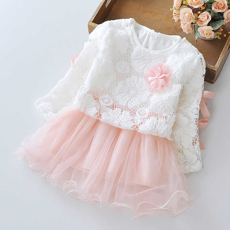 Girls Clothes Girls Dress New Princess Party Dresses For Girls Spring  Lace Mesh Splicing Dress Kids Clothing