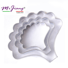 Carnations Stainless Steel Cookie Cutter Set Cake Mold Fondant Cake Decorating Tools Flower Petal Sugar Paste Biscuit Mold A376
