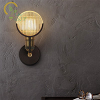Lofe Style E27 Old Car Design Wall Lights Antique Edison Bulb Glass Wall Lamp Industrial Wall Sconce lamparas de pared