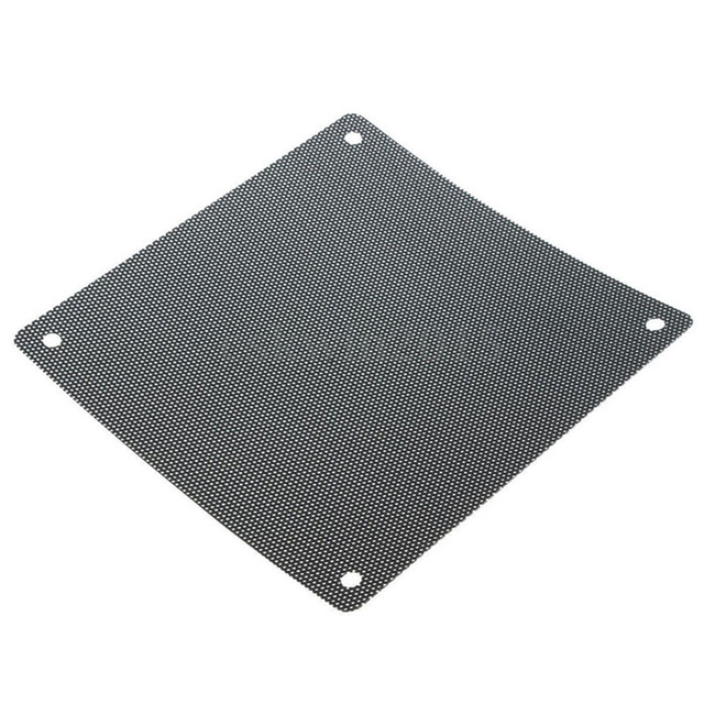 5PCS/lot 120mm Cuttable Black PVC PC Fan Dust Filter Dustproof Case Computer Mesh 4