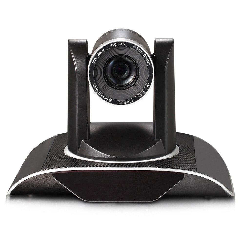2MP 1080P60 20x Zoom optique 3G-SDI DVI IP PTZ Wifi caméra de vidéoconférence sans fil diffusion avec interface audio