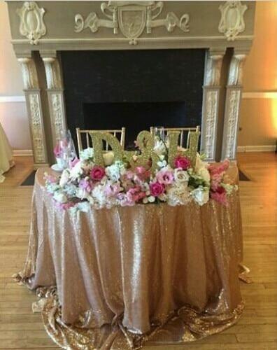 108 дюйма Круглый шампанское блесток скатерть блестками Скатерти для Свадебные украшения-R