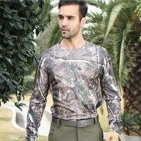 الصيف والخريف الرجال في التمويه الرجال الرياضة قميص طويل كم t قميص الصيد كامو التكتيكية قاعدة العسكرية o طبقة