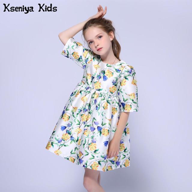 f643d462d75a9f Kseniya Kids Bloem Meisjes Zomer Formele Jurk Kinderen Jurken Voor Meisjes  Meisje Kleding Voor Bruiloften Koreaanse