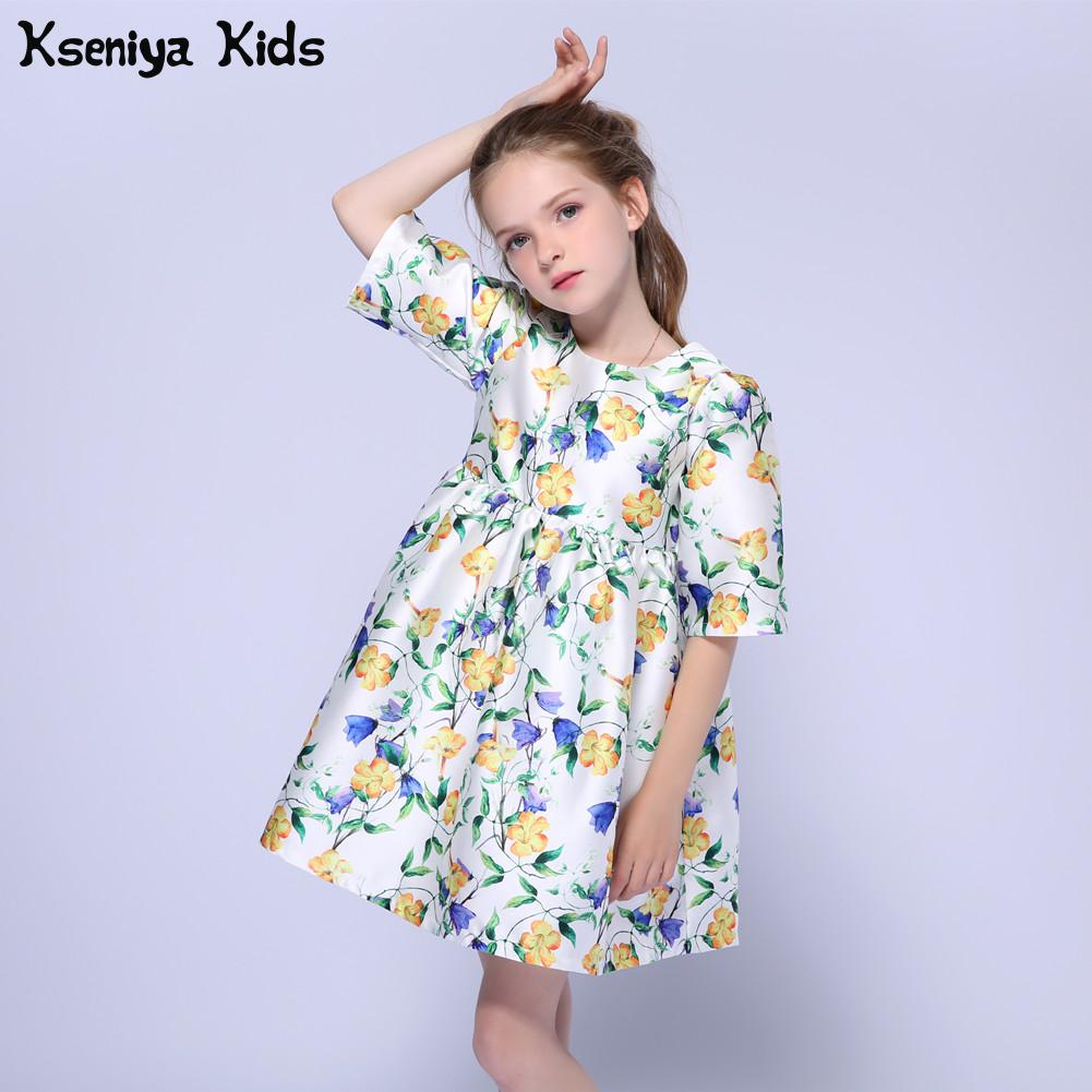 Kseniya Kids Flower Girls Summer Formal Dress Kids Dresses For Girls Baby Girl Clothes For Weddings Korean Children Clothing summer 2017 new girl dress baby princess dresses flower girls dresses for party and wedding kids children clothing 4 6 8 10 year