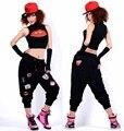 Лучший Версия, 2016 Женщины Шаровары Случайных брюки Хип-Хоп Брюки Тренировочные Брюки Костюмы Брюки Для Девочек Марка Багги Танцы Брюки