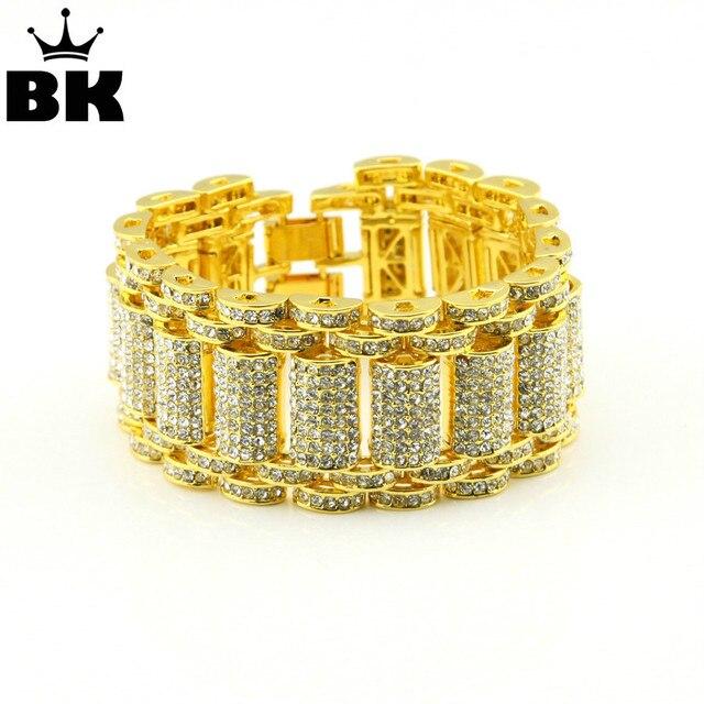 Hip Hop Rock Style Bracelet Crystal Iced Out Bracelets Bangles For Men And Women Bling Tennis