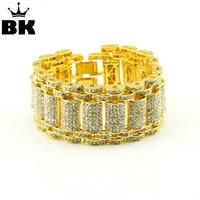 Hip Hop Rock Style Bracelet Crystal Iced Out Bracelets Bangles for Men and Women Bling Tennis Chain Hip Hop Bracelet