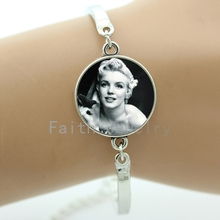 Vintage charm Marilyn Monroe posters bracelets fashion sexy movie star jewelry vintage Keep Calm Quotes bracelet men women NS422