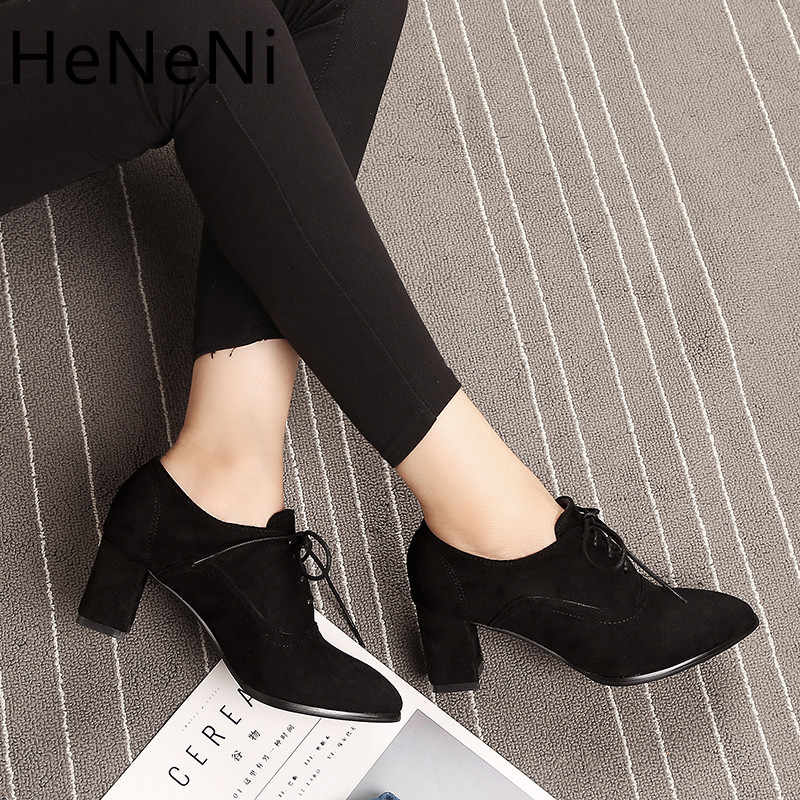High Quality New Suede Square Heel Women's Ankle Boots Fashion Elegant Women's Booties Autumn Winter Ankle Boots Plus size 31-48