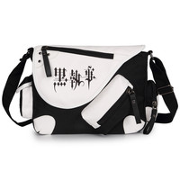 Anime Black Butler Bags Canvas Leather Shoulder Bag Messenger Bag Teenagers Men Women's Student Travel School Bag