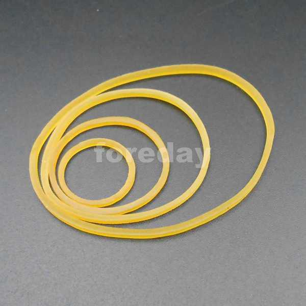 100PCS Silicone Rubber Band Drive belt Pulley Model Motor DIY Toys 1.5mm X 19mm