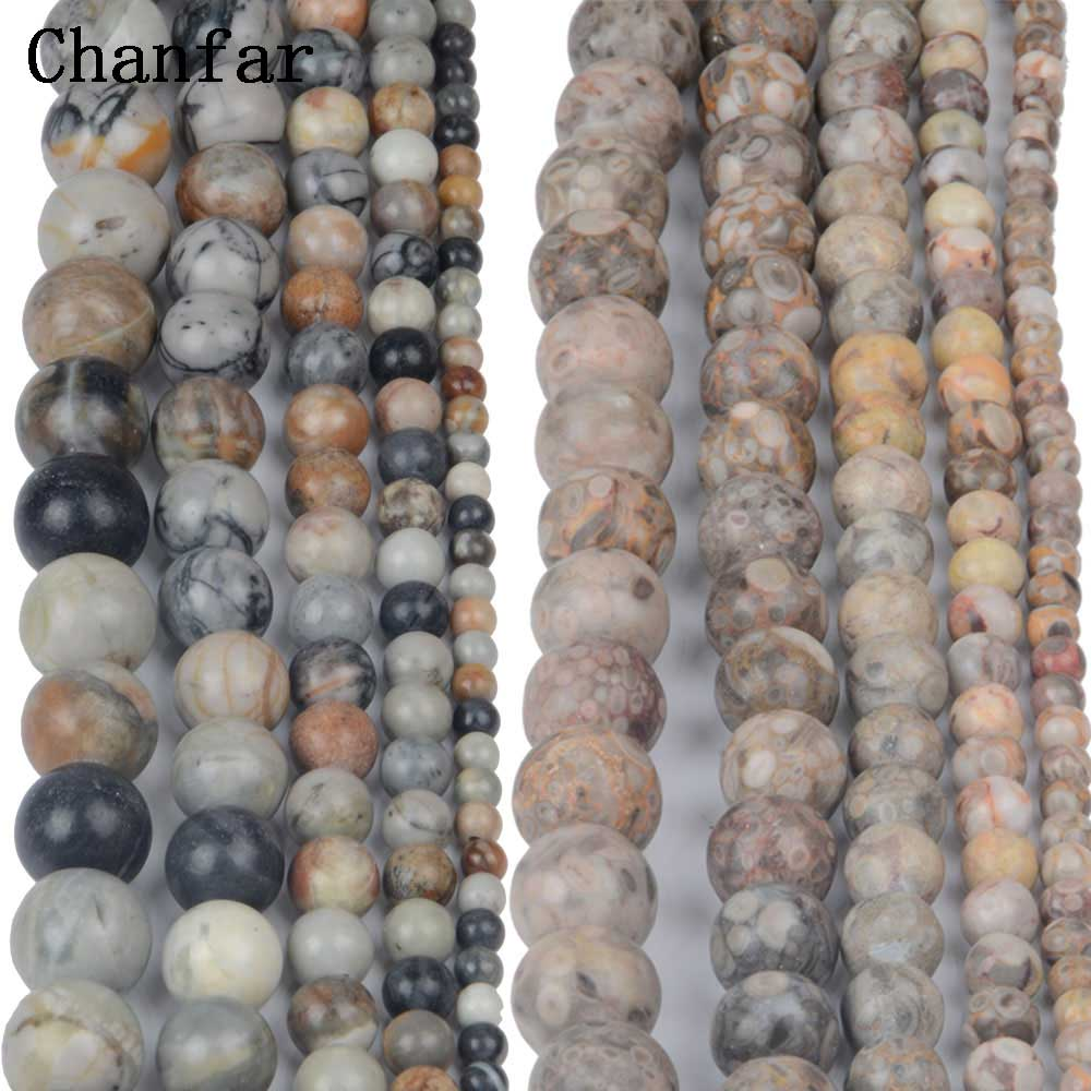 Natural Chinese Medical Stone Women Jewelry Fashion Making Loose Beads 4 6 8 10 12mm