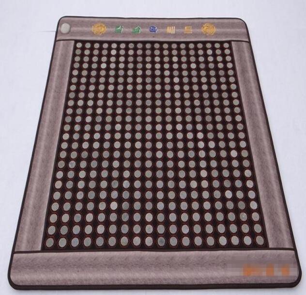 2015 hot! Stone Germanium Jade Mattress Tourmaline Heating Pad New Treatments for Sale Free Shipping 1.2*1.9M natural tourmaline mat jade health care pad electric heating mattress germanium stone mattress for sale 0 7x1 6m