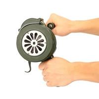 Safurance Green Aluminium Alloy Crank Hand Operated Air Raid Emergency Safety Alarm Siren Home Self Protection