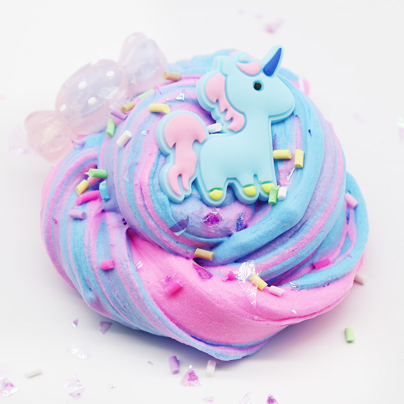 Modeling Clay New Fashion Fluffy Unicorn Cotton Mud Slime Scented Stress Relief No Borax Kids Toy Sludge For Kids Gift Modeling Clay