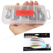 Goture Fishing Lure Kit Soft Lure + Offset Worm Hook/Jig Head Crank Hook Fishhooks for Saltwater Fresh Water Fishing Lures